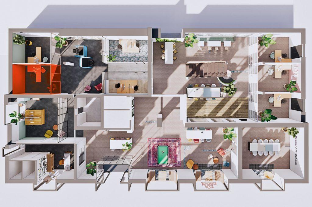 Terwolde d'Olde Melkfabriek Kantoor 2 Werkplek Kantoor Flexplek Huren Kantoorruimte Plattegrond