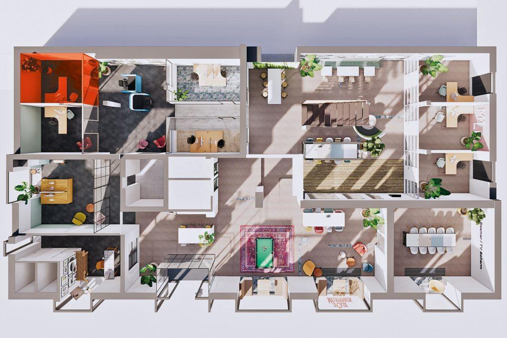 Terwolde d'Olde Melkfabriek Kantoor 3 Werkplek Kantoor Flexplek Huren Kantoorruimte Plattegrond