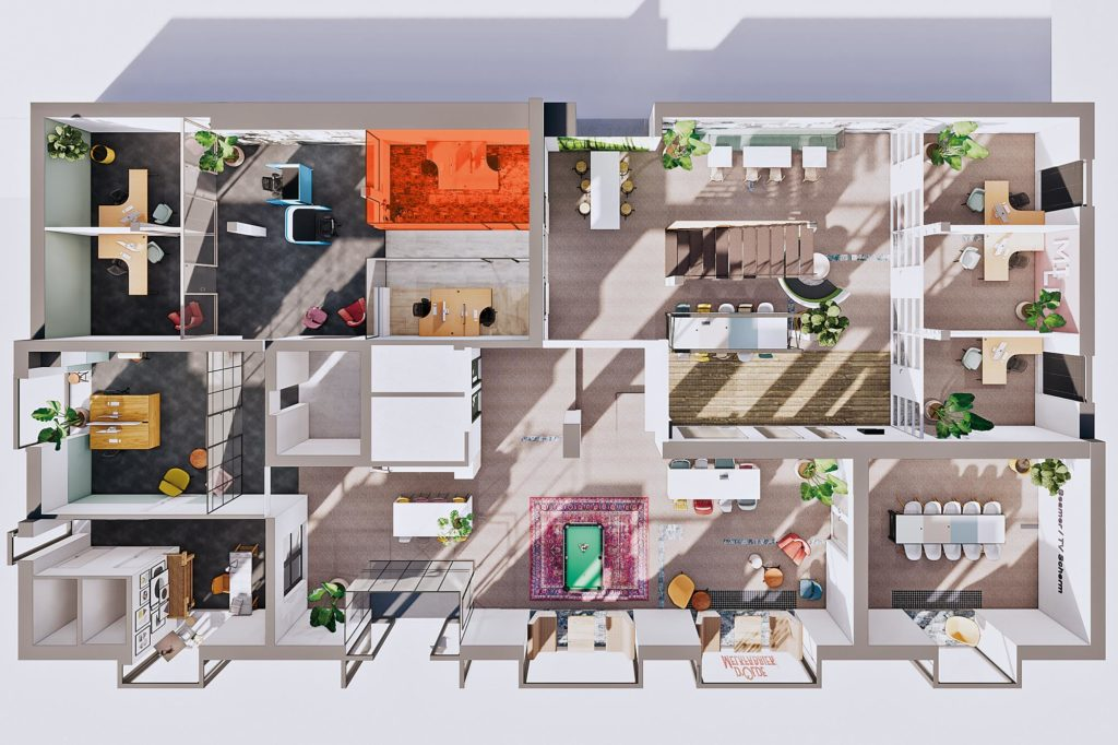 Terwolde d'Olde Melkfabriek Kantoor 4 Werkplek Kantoor Flexplek Huren Kantoorruimte Plattegrond