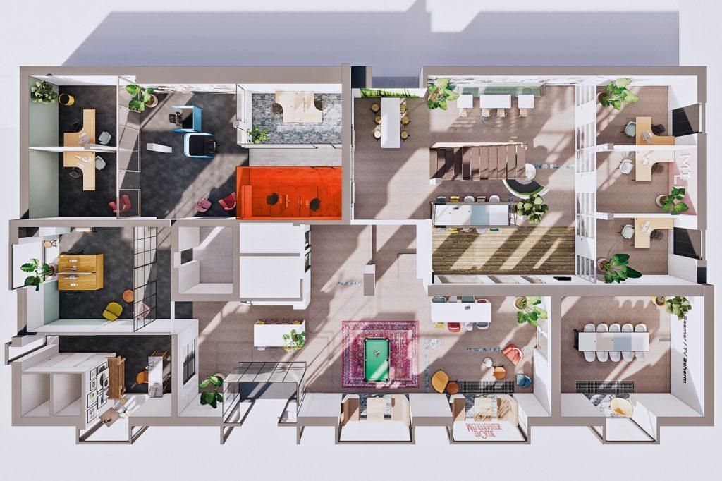 Terwolde d'Olde Melkfabriek Kantoor 5 Werkplek Kantoor Flexplek Huren Kantoorruimte Plattegrond
