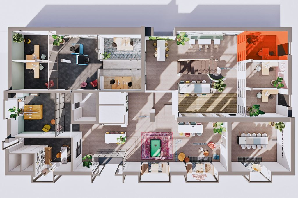 Terwolde d'Olde Melkfabriek Kantoor 6 Werkplek Kantoor Flexplek Huren Kantoorruimte Plattegrond