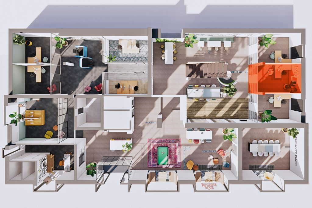 Terwolde d'Olde Melkfabriek Kantoor 7 Werkplek Kantoor Flexplek Huren Kantoorruimte Plattegrond