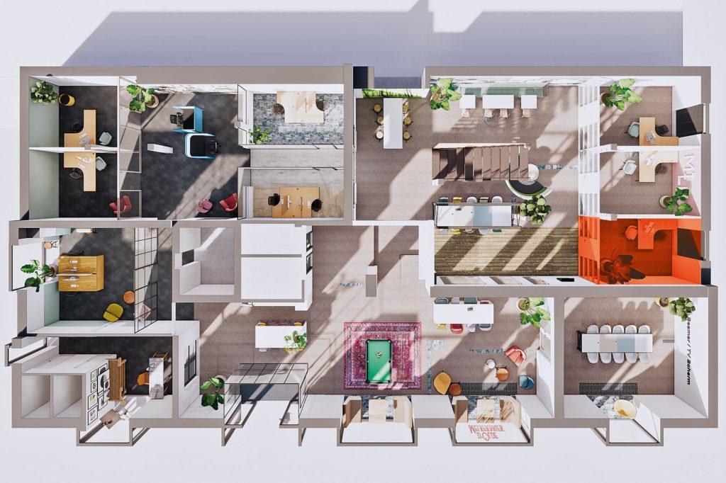 Terwolde d'Olde Melkfabriek Kantoor 8 Werkplek Kantoor Flexplek Huren Kantoorruimte Plattegrond